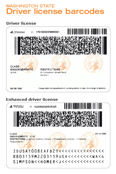 Driver s license barcode generator