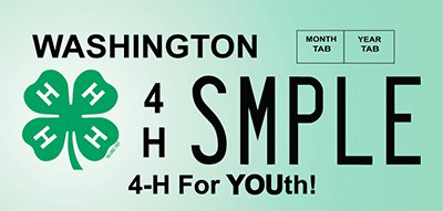4-H license plate