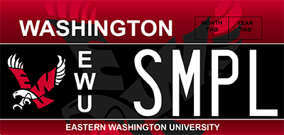 Eastern Washington University license plate