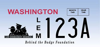 Law Enforcement Memorial license plate