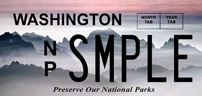 Washington National Parks license plates