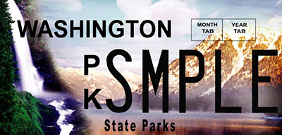 Washington State Parks license plate