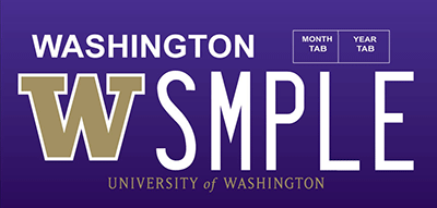 University of Washington plate