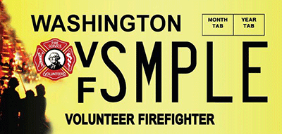 Volunteer Firefighter license plate
