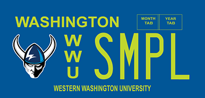 Western Washington University plate