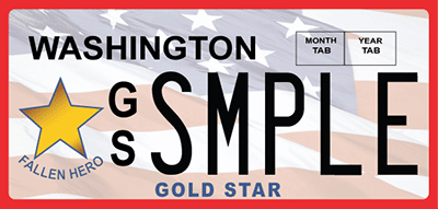 Gold Star license plate
