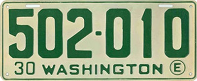 Restored license plates