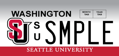 Seattle University license plate