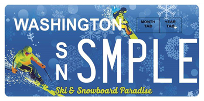 Ski and Ride license plates